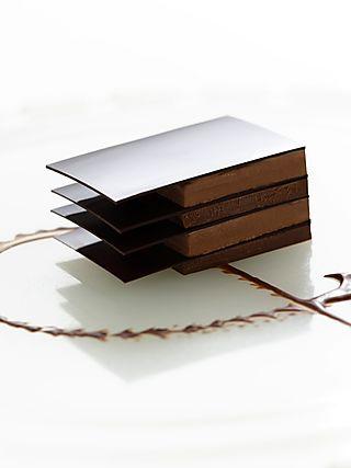 Bitter Chocolate Sorbet Ganache Napolean